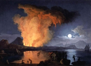 Pierre-Jacques Volaire, View of the Eruption of Mount Vesuvius, ca. 1770.