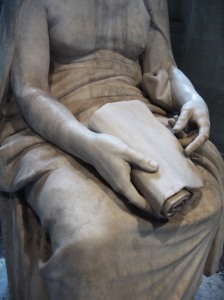 Female philosopher statue from the Louvre.