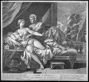 Achilles et Deidamia; original engraver unknown (source).