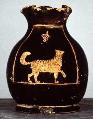 Chous, Melitan dog with grapes, ca. 450 - 435 BC (Source