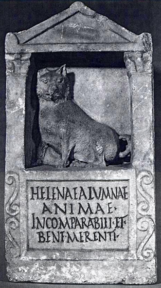 Grave Stele for a Melitan dog, Italy (Rome), marble, ca. 150 – 200 AD