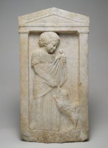 "Attic Grave Stele of a Young Girl, ""Melisto"", Greece, ca. 340 BC (Source) http://www.harvardartmuseums.org/art/288045"
