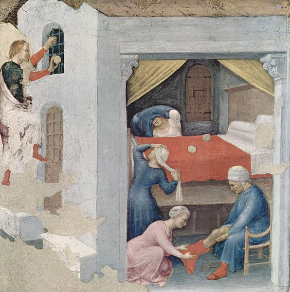 Gentile da Fabriano, c. 1425, Pinacoteca Vaticana, Rome (Source) http://lapouyette-unddiedingedeslebens.blogspot.com.au/2011/12/st-nicholas-day-nikolaustag.html