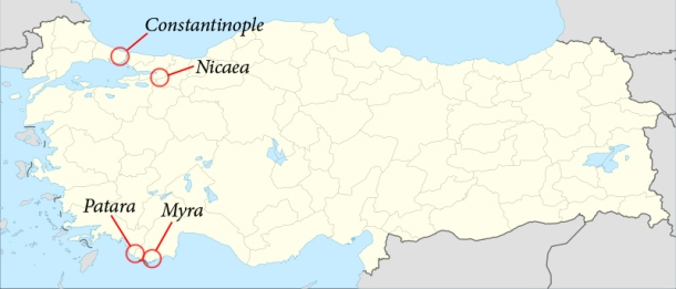 Myra, in the western part of Turkey