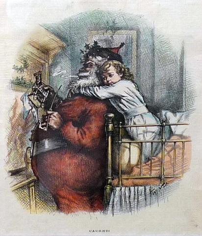 """""""Caught!"""" Thomas Nast, 1881."""