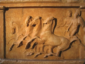 Relief depicting chariot races in honour of the hero Amphiaraus (source)