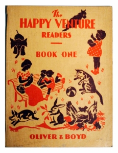 The Happy Venture Readers Book One: Playtime, by Fred J. Schonell and Irene Serjeant, Illustrated by C. J. McCall (Source http://www.artbooksdecor.com/product/the-happy-venture-readers-book-one-112829577.html )
