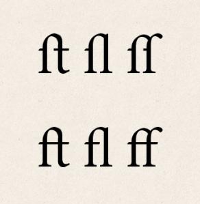 st, sl, ss ft, fl, ff