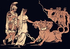 The Sibyl placates Cerberus (source) http://www.gutenberg.org/ebooks/40622