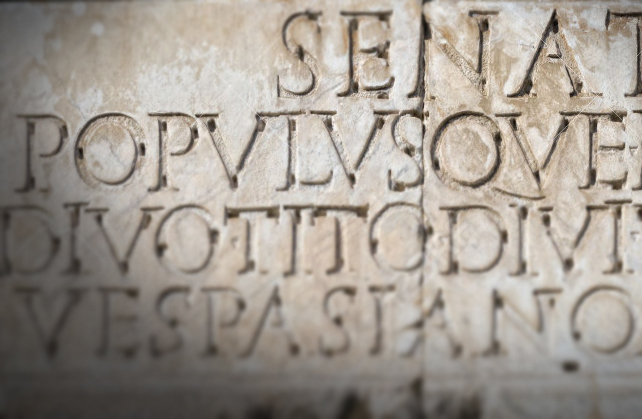 SPQR Roman inscription augustus imperator